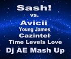 Sash! vs. Avicii, Young James & Cazintel - Time Levels Love (Dj Ae Mash Up) [2013]
