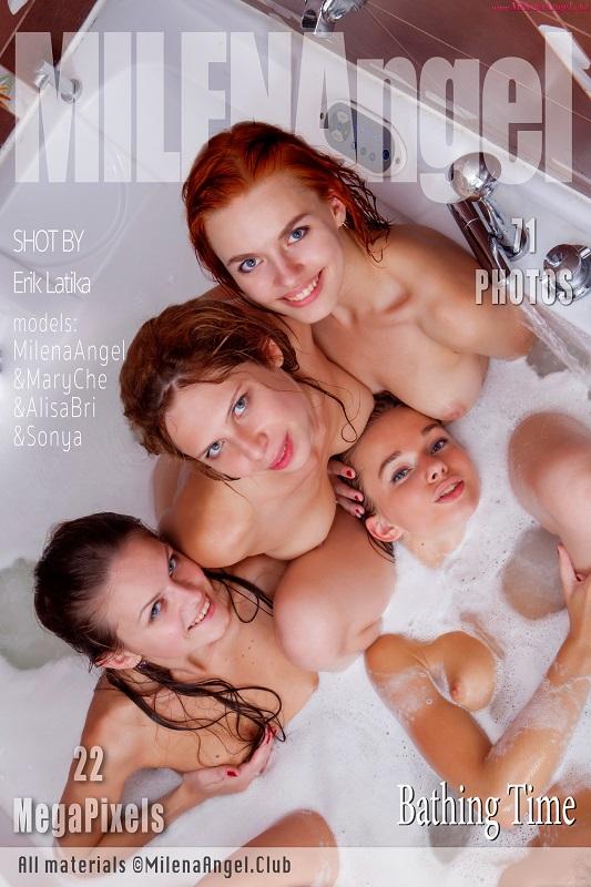 Milena, Mary Che, Alisa Bri & Sonya - Bathing Time - x71 - 5616px - Mar 18, 2019
