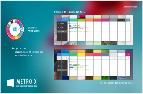 Metro X VS - Тема для Windows 7
