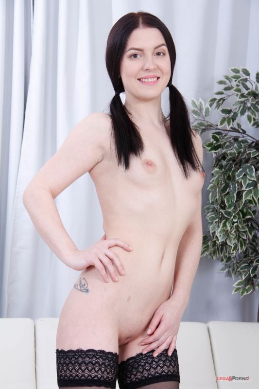 Elley gets 2on1 Anal and DP with rough sex GL025 - 20 Apr, 2019