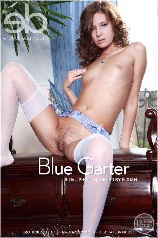 Irina J - Blue garter (x118)
