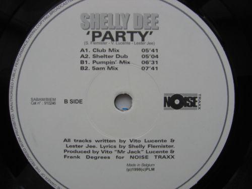 "Shelly Dee – Party (Belgium, Vinyl, 12"") [1998]"